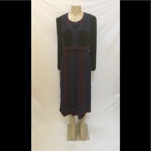 Karin Stevens Size 12P Floral Print Midi Dress